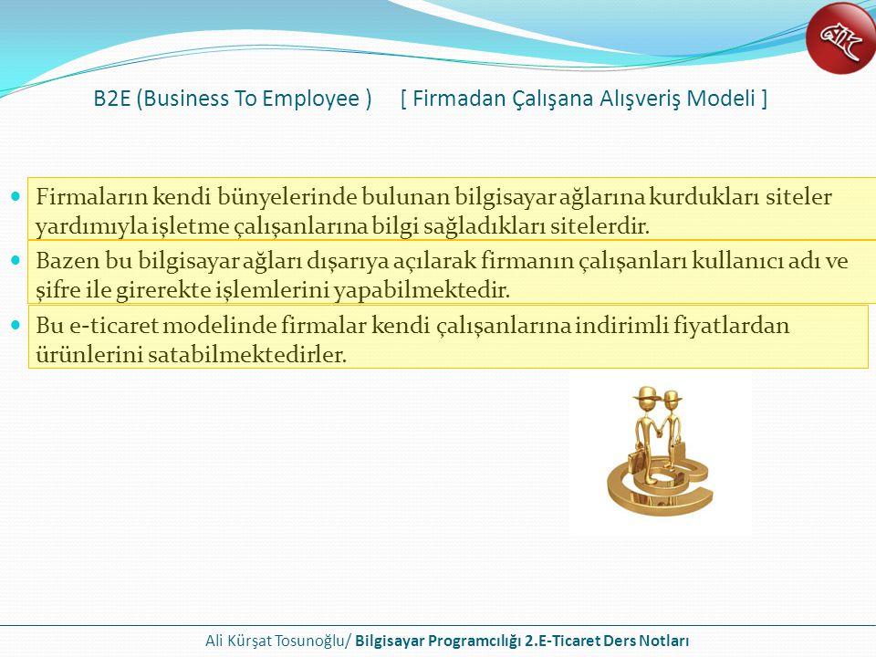 B2E (Business To Employee ) [ Firmadan Çalışana Alışveriş Modeli ]